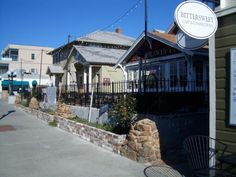 Newwer shops and restaurants fill historic buildings along Main Street - Louisville, CO