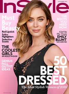 Girl on the Train Star Emily Blunt on Playing a Drunk, Overcoming a Stutter, and Keeping a Low Profile from InStyle.com