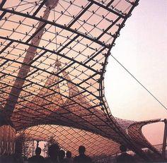 Estádio dos Jogos Olímpicos de Munique, 1972, Frei Otto.