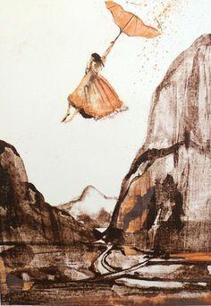 Gro Mukta Holter - Høyt over dalen Fine Art, Abstract, Artwork, Painting, Summary, Work Of Art, Auguste Rodin Artwork, Painting Art, Artworks