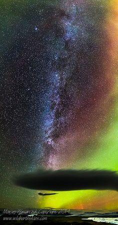 Milky Way over Vatnajokull Glacier, Iceland | by Maciej Winiarczyk