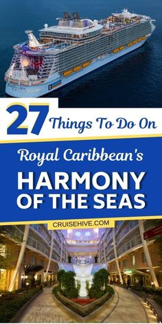 Things to do on the Harmony of the Seas cruise ship. Find out everything to on during the Royal Caribbean cruise vacation. #cruise #cruises #cruisetravel #royalcaribbean #cruisetips