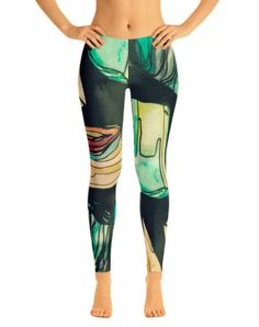 Zen Gemstone Printed Leggings by PrintedYogi on Etsy