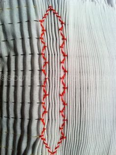 SewNso's Sewing Journal: vertical smocking - {getting started}