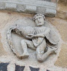 Aquarius: one of the twelve zodiac signs on the church of Saint-Austremonius, Auvergne, France. Aquarius Images, Aquarius Art, Sagittarius, Garden Sculpture, Lion Sculpture, Celestial Sphere, Tarot, Gemini Woman, Air Signs