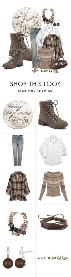 """Hiking Boots"" by kloeyblue ❤ liked on Polyvore featuring Werkstatt:München, G.H. Bass & Co., Current/Elliott, Bobeau, Alexander McQueen, Marc Jacobs, Zodaca, Majorica and Hollister Co."