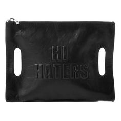 "Our latest bag obsession: Donatienne's ""Hi Haters"" clutch."