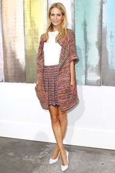 Poppy Delevingne Front row Chanel Spring 2014 Ready-to-Wear Collection Paris Fashion Week  #Poppy #PFW