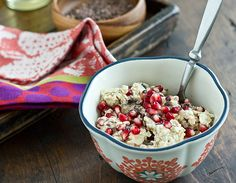 Cocoa Nib & Pomegranate Overnight Oats | Oh My Veggies