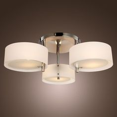 Splendo Modern Acrylic Chandelier Ceiling 3 lights Pendant Lamp Lighting E26/E27 on ebay