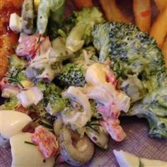 "Minnesota Broccoli Salad | ""I didn't change a thing and let it sit overnight before serving. Recipe says 8 servings but 5 of us polished it off easily as a side dish. Delicious!"""