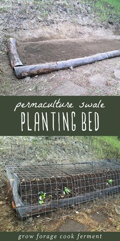 Grow more with less work using permaculture principles! How to build a permaculture swale planting bed. #permaculture #gardening