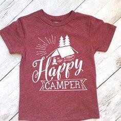 Toddler shirt - Happy camper shirt - camping shirt - toddler shirt - hip toddler shirt - toddler boy shirt - wild shirt by ShopHartandSoul on Etsy https://www.etsy.com/listing/499745505/toddler-shirt-happy-camper-shirt-camping