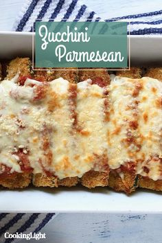 Why should eggplant have all the fun? Zucchini is also quite delicious when breaded, crisped up, and baked with layers of marinara sauce . Veggie Meals, Veggie Recipes, Healthy Meals, Healthy Food, Healthy Eating, Healthy Recipes, Vegetarian Meal Prep, Vegetarian Main Dishes, Vegetarian Recipes