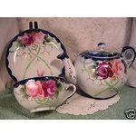 Image detail for -eBay Image 1 Nippon 10 Pc Tea Set Cobalt Blue & Gold Roses Moriage