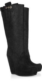 Rick OwensLeather wedge boots
