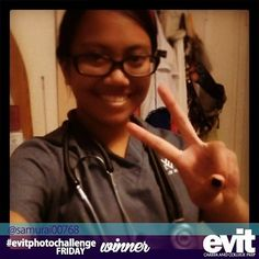 """I am a future nurse."" Congratulations to @samurai00768 for being one of the winners of this week's #evitphotochallenge with her #evitselfie! #weareevit"