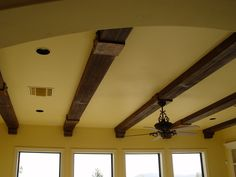 Since the complimentary look of wood is timeless, faux wood beams can be utilized to embellish a home's exterior ceiling as well. Description from carmellalvpr.wordpress.com. I searched for this on bing.com/images