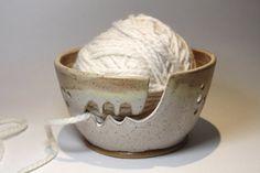 XL Extra Large Ceramic Yarn Bowl Knitting Bowl  by bridgespottery