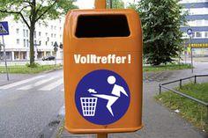 Werbung für aha Abfallwirtschaft
