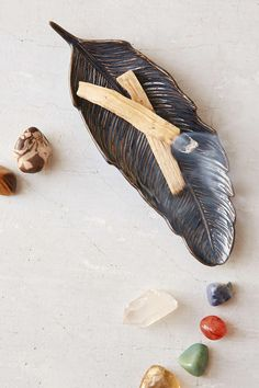 Plum & Bow Ceramic Feather Catch-All Dish - Urban Outfitters