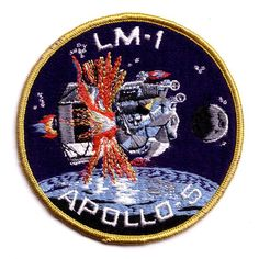 Apollo 5 Mission Patch (embroidered)