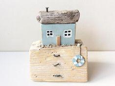 Driftwood Cottage - Driftwood, Wooden Houses, Recycled Wood, Driftwood House, Driftwood Scene,Driftwood Art, Handmade Driftwood House.