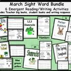 http://www.teacherspayteachers.com/Product/March-Sight-Word-Bundle-6-Emergent-Readers-With-Writing-Response-Sheets-526898 This is not your typical March worksheet pack.  Use these materials to bundle CCSS literacy learning in your classroom! Your students will burst wi...