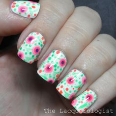 The Lacquerologist: Summer Solstice Neon Florals and an ESSIE GIVEAWAY!
