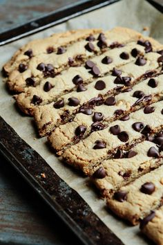 Cookie Sticks  May use butter instead of peanut butter and additional chocolate chips instead of peanut butter chips.