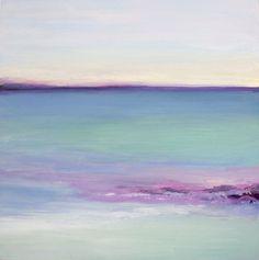 seascape landscape cool colors painting art