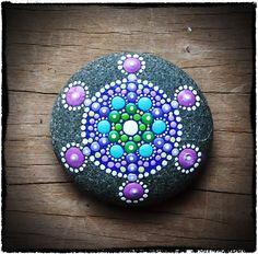 Jewel Drop Mandala Stone- purple dream. $25.00, via Etsy.