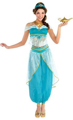 Adult Jasmine Costume Couture  sc 1 st  Pinterest & princess costumes for girls | Girls Deluxe Barbieu0027s Princess Charm ...