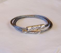 Industrial Twisted Cable Bangles with by rosepetalsjewelry on Etsy, $15.00