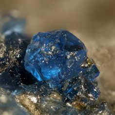 Sapphire blue crystals on matrix | ©Webshop for mineral collectors Eifel, Rhineland-Palatinate, Germany. Sapphire is a blue gem variety of Corundum (an aluminum oxide), but other colored varieties of Corundum are also described as Sapphire, except...