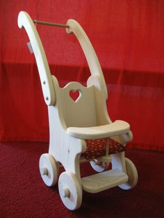 Cashie's Dolly Stroller/Buggy  Waldorf  wooden dolly