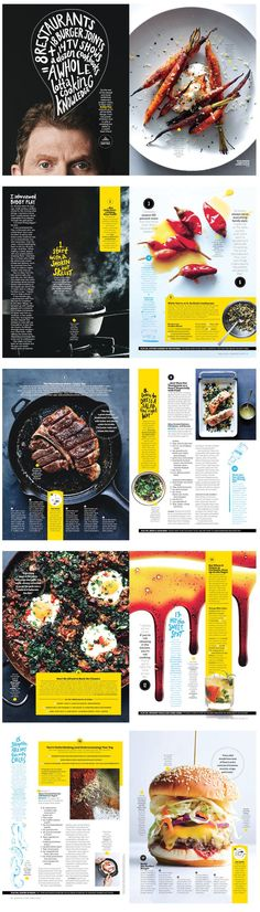 Bon Appetit | Chef Profile with numbered list. Good variation of small moving parts and larger elements.