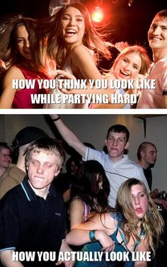 What I think I look like dancing, vs what I really look like dancing.  FUNNY!
