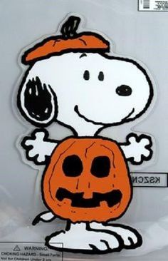 SNOOPY AS A PUMPKIN HALLOWEEN YARD ART DECORATION.