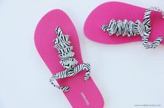 might make these too! Really dresses up Old Navy flip flops... I can see so many possibilities!