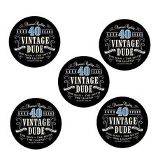 Vintage Dude Sticker Pieces) by Partypro Boutique Stores, Cool Stickers, 40th Birthday, Fashion Boutique, Vintage, 40 Birthday, Vintage Comics, Fortieth Birthday, Primitive