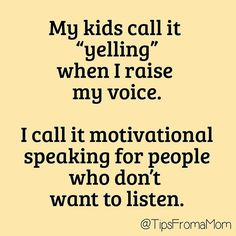 If they would just listen!