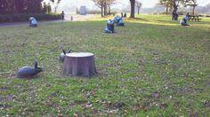 シュールな公園なう。 : ついっぷるフォト