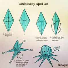 origami octopus - Google Search
