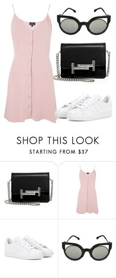 """Untitled #4463"" by beatrizvilar ❤ liked on Polyvore featuring Tod's, Topshop, adidas and Fendi"