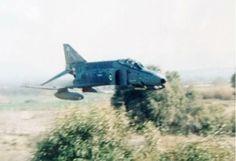F-4M Phantom of the RAF cutting grass!