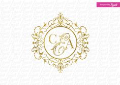 luxury wedding logo by Linvit on Etsy