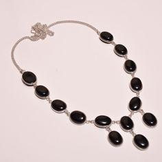Dazzling Black onxy .925 Silver Handmade Designer Necklace Jewelry SJA982 #Handmade