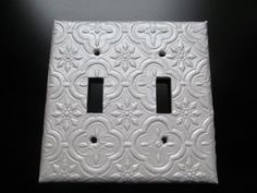 Handmade Decorative Light Switch Covers Plates Textured Metallic Like - Light Gold Ch&agne - Several Types & Tracery Double Switch Plate Cover - Aluminum | Home Decor ...