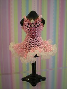 Beaded MiniatureTutu by Beadwork by Sian, via Flickr